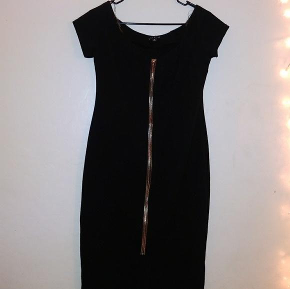 Haute Monde Dresses & Skirts - Black zip up dress
